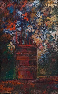 Painting by Miho Ebanoidze, oil, wood. 2006,  now in Moscow private collection