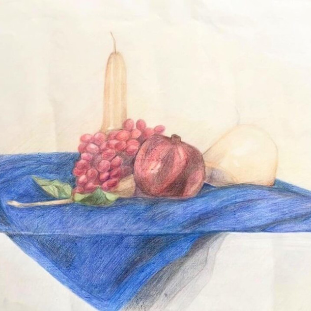 Drawing by a student of adults' art class