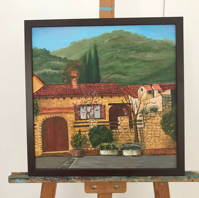 Finished painting from a plein air