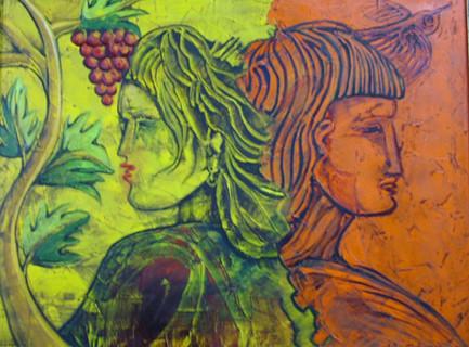 Painting by Miho Ebanoidze, Галерея Диохроники (Никосия)