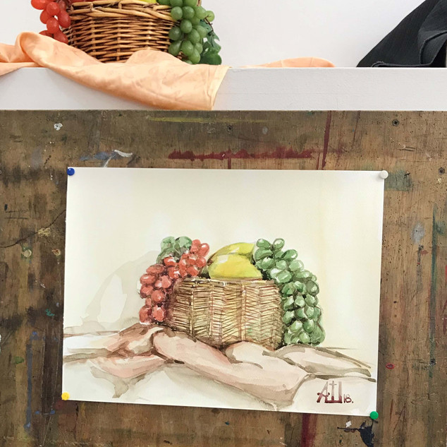 Watercolor by a student of adults' art class