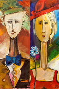 Diptych by Miho Ebanoidze, 2012, oil, canvas. Now in Cypriot private collection