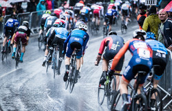 A wet day at Otley Cycle Races