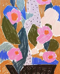 Scribbled florals = new face colour pale