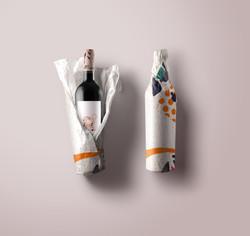 Paper-Wrap-Wine-Bottle-Mockup rose