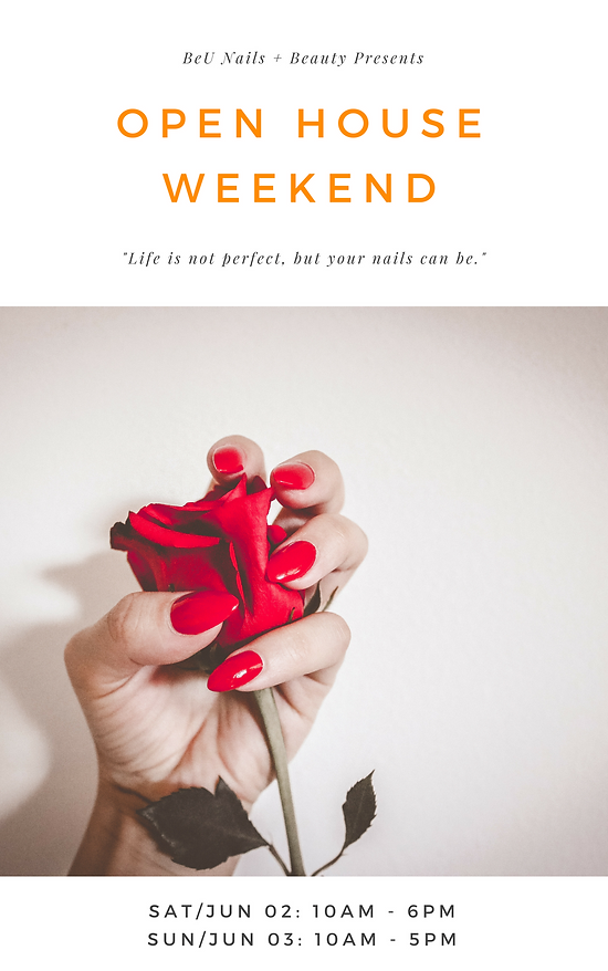 Join Us on Our Open House Weekend and Enjoy Great Discount | Nail ...