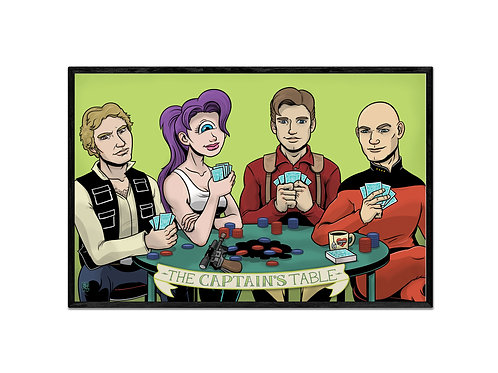 """The Captains' Table"" print"