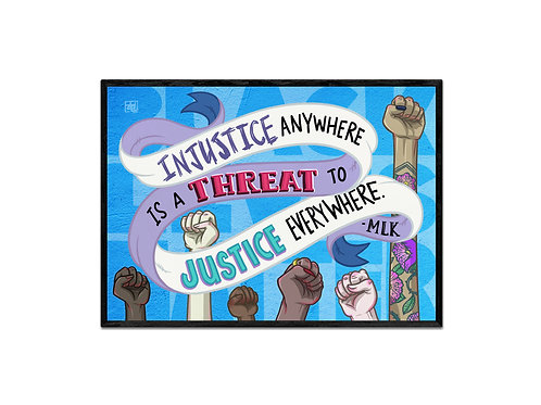 """To Justice Everywhere"" digital print"