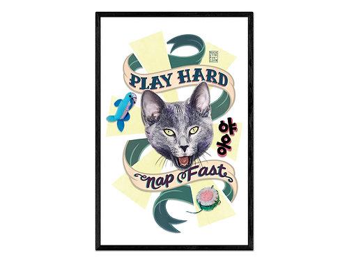 """Play Hard, Nap Fast"" digital print"
