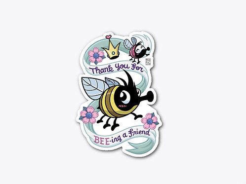 """BEE Friend"" sticker"