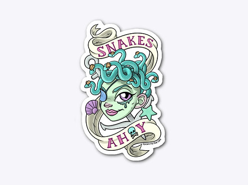 """Snakes Ahoy!"" sticker"