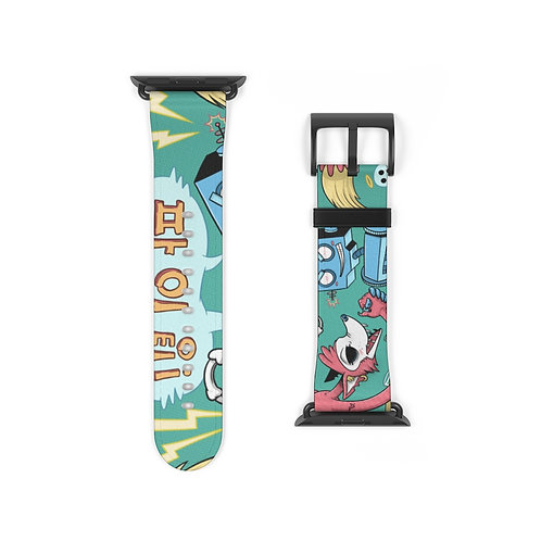 """Go-Go-Bot vs Fight-Fox"" Rumble Watch Band"