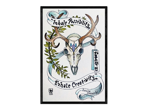 """Inhale Possibility..."" print"
