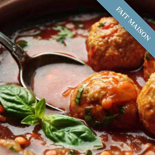 Boulettes à la sauce tomate (6 Pièces)