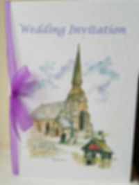 CHRIST CHURCH GREAT LUMLEY WEDDING INVIT