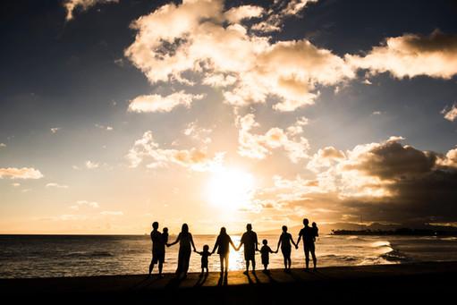Alamoana beach Family Sunset