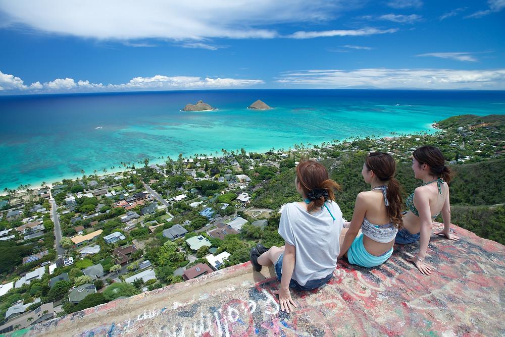 """頂上からの眺めは最高の一言(PHOTO/TOMOHITO ISHI""""MARU"""")"""