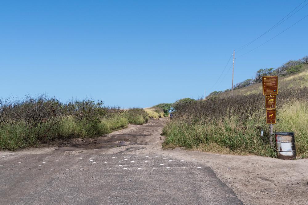 ここが一応、車でアプローチできる終点。周囲に車を停めるスペースがあります。この先も本格的な四駆であればまだ進むことができますが、道が悪いのでやめた方がよいです。ここから歩くことをおすすめします(Photo/Tomohito Ishimaru)