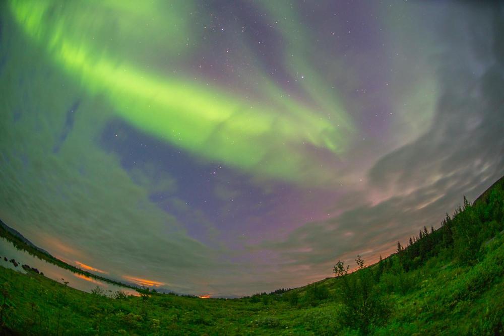 アイスランドの夏のオーロラ(PHOTO/Tomohito Ishimaru)