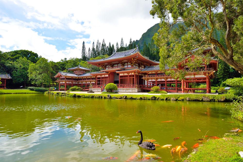 どうですかこの優雅な佇まい。手前の池には黒鳥がいて、錦鯉もワンサカ。あ、広島カープ優勝おめでとう! PHOTO/Tomohito Ishimaru