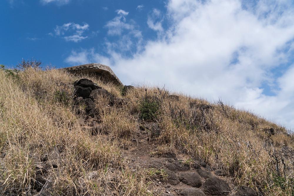 3つめのピルボックスは目の前。この辺りも結構急な坂 (Photo/Tomohito Ishimaru)