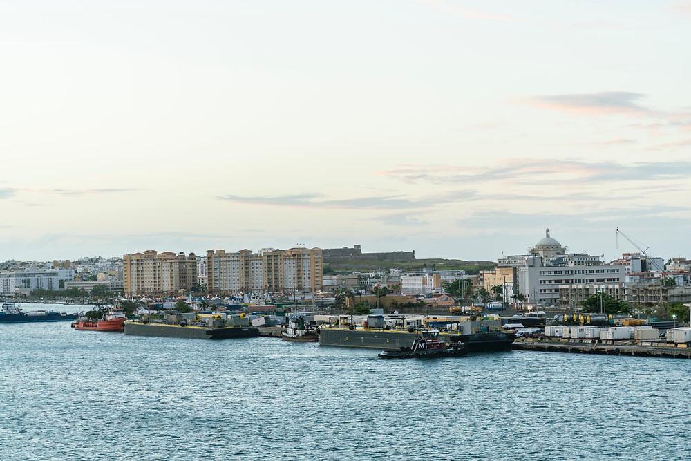 今回の出港地プエルトリコ・サンファンの港(PHOTO/Tomohito Ishimaru)
