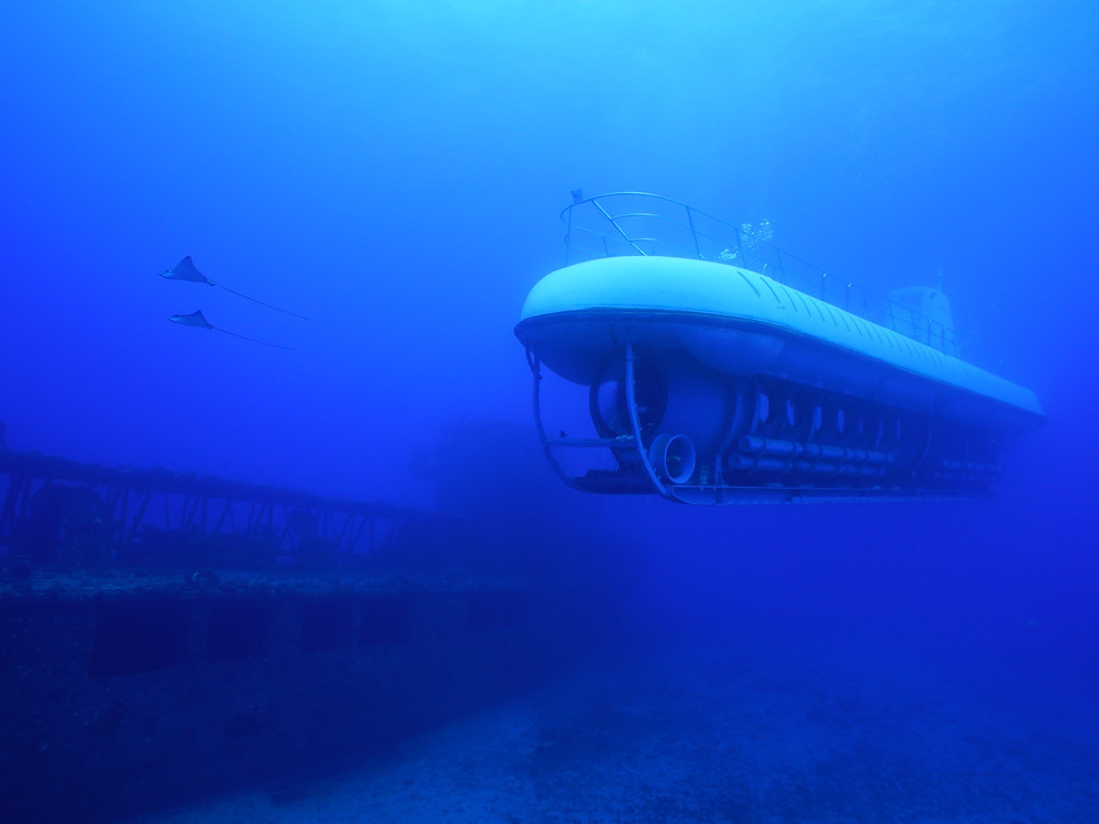 観光潜水艦でも水中は覗けるけど、自らを水中に置くダイビングこそが非日常の世界(Photo/Tomohito Ishimaru)