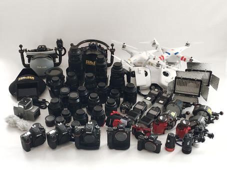 全撮影機材のメンテナンス完了で2016年終了!