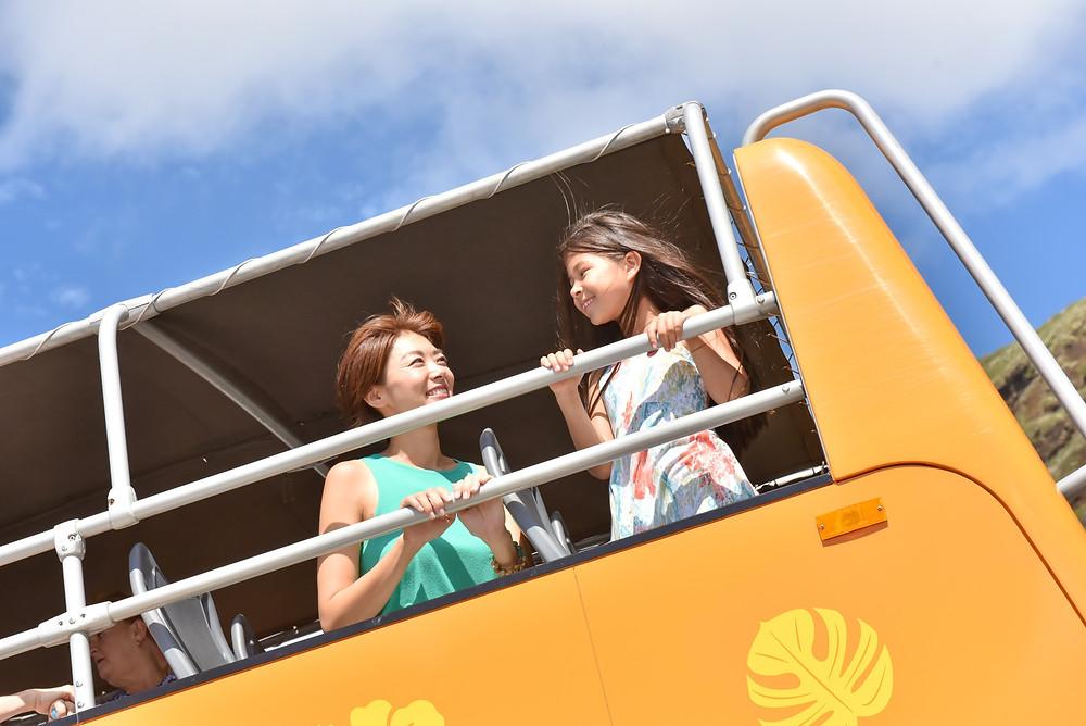 ヤッホー、高いよママ!的な。いつもと違う視線に子供も興奮しちゃうよね(PHOTO/Tomohito Ishimaru)