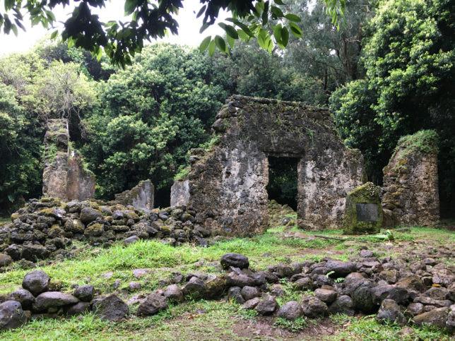 神秘的なハワイ王朝の遺跡があります。ゲストのHさん撮影