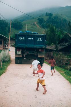 Village kid on the run