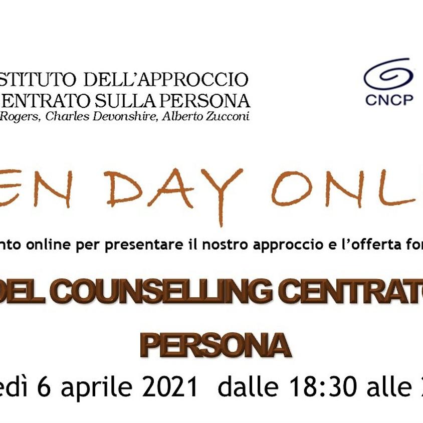 Open Day Online Corso Biennale di Counselling Centrato sulla Persona