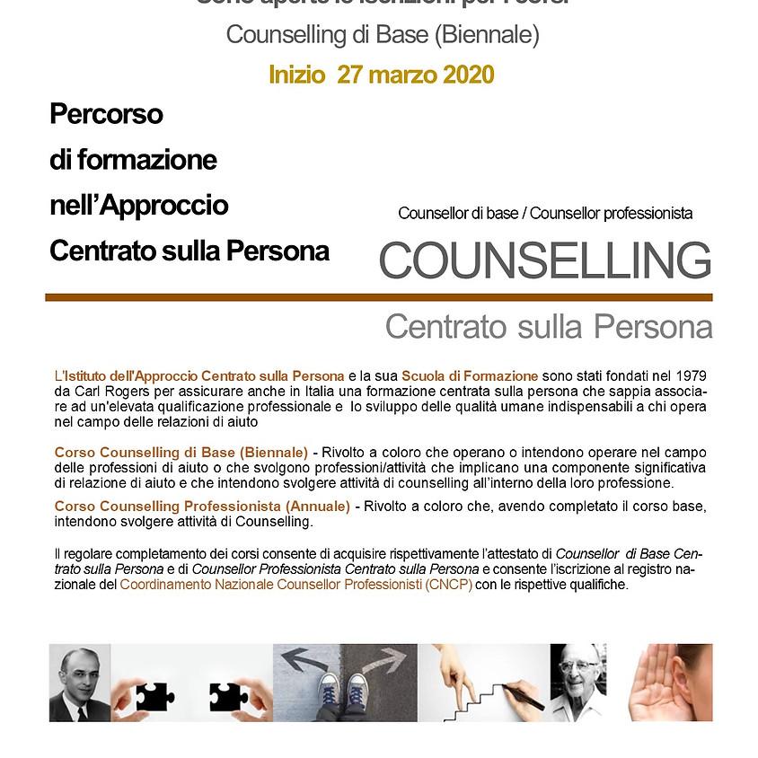 Inizio Corso di Counselling Biennale  Sede di ROMA