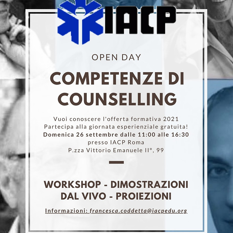 """Open Day Counselling """"Competenze di Counselling"""""""