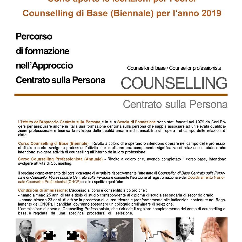 Inizio Corso Biennale di Counselling sede di Roma