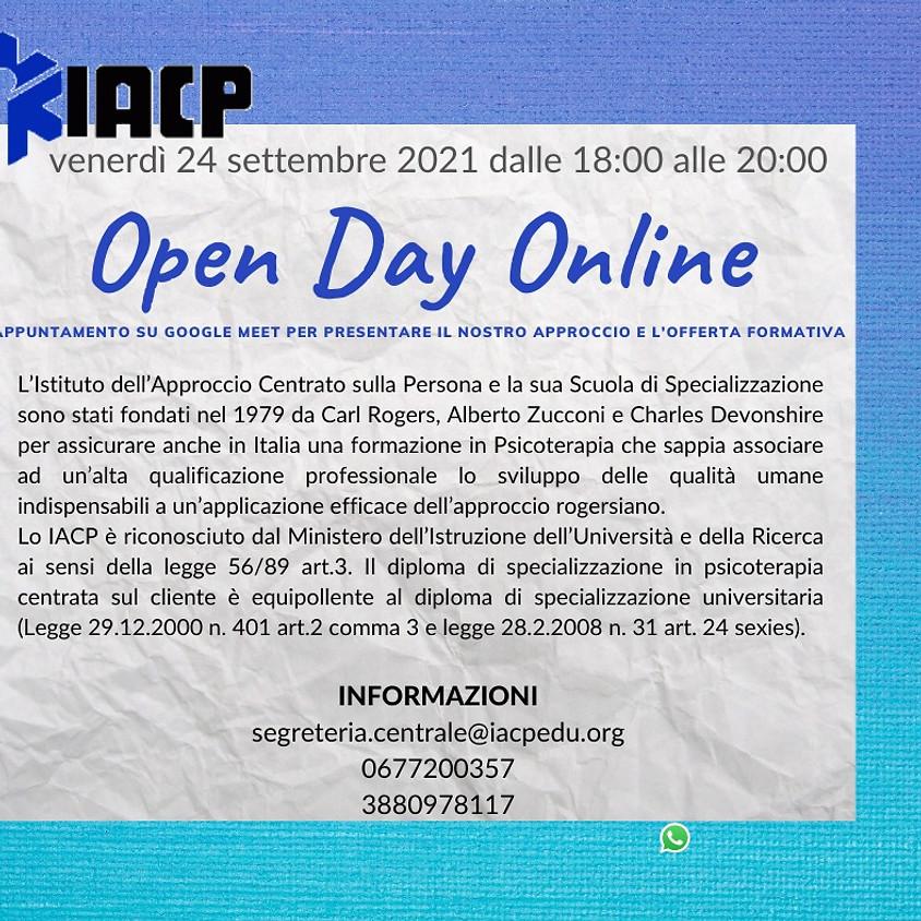 Open Day  Online Scuola  Quadriennale  di  Specializzazione in Psicoterapia sede di Roma