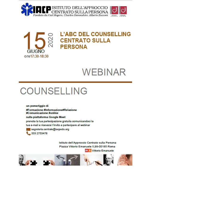 Webinar Workshop Counselling Centrato sulla Persona