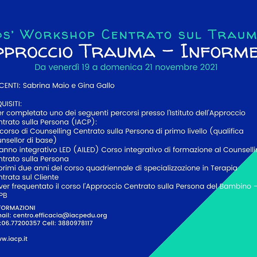 Formazione Formatori Kids' Workshop Centrato sul Trauma