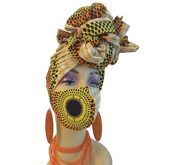 Orange Sunshine Head Wrap Set