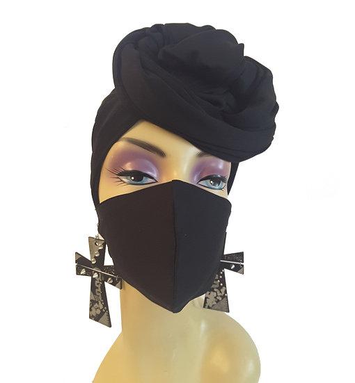 Black Onxy Head Wrap Set