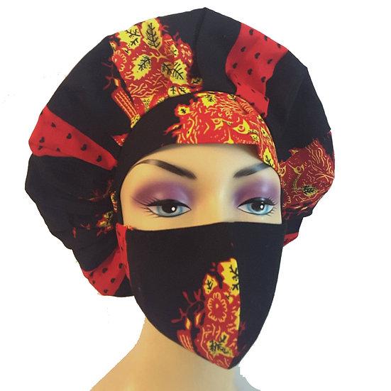 Onyx Hearts Bonnet Set
