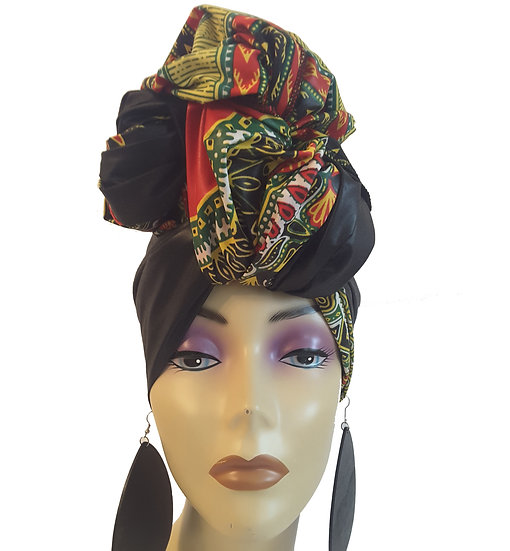 Black Queen Head Wrap