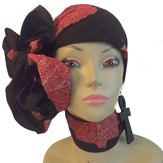 Red Leaf Head Wrap Set