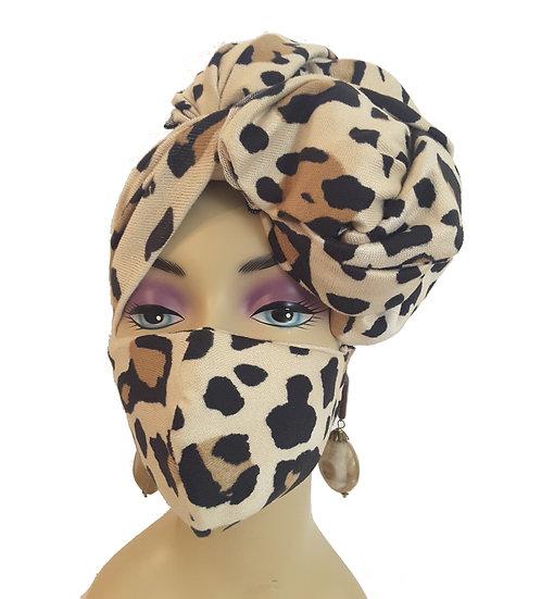 Leopardness Head Wrap Set