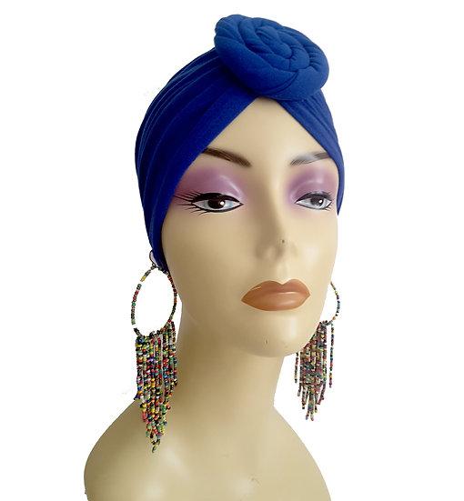 Royal Blues Chic Turban