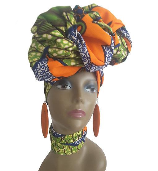 Tropical Lime Head Wrap Set