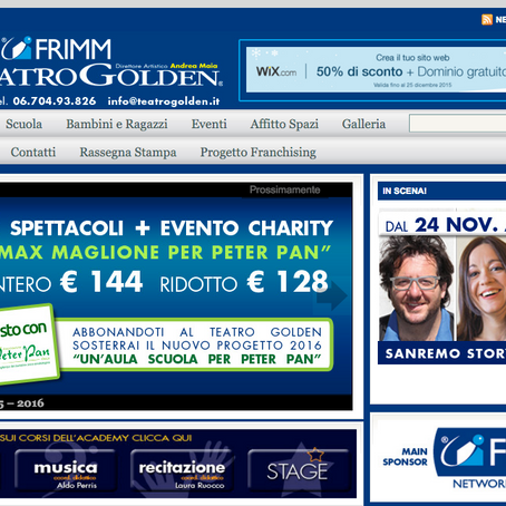FRIMM sponsor del Teatro Golden di Roma
