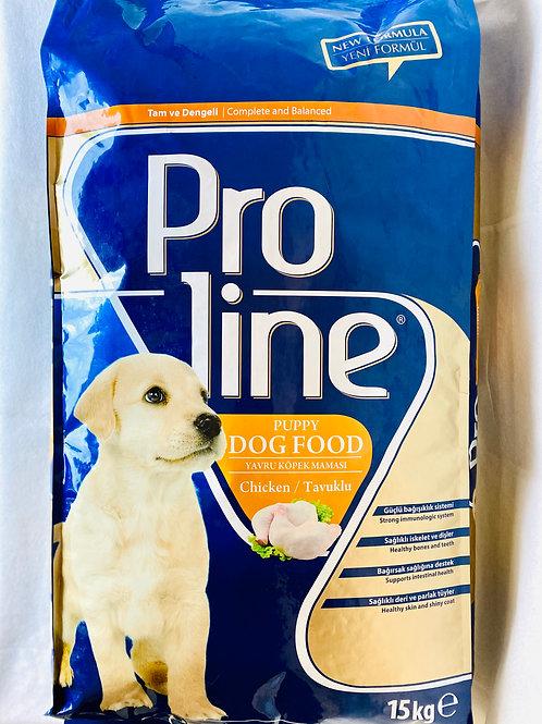 """Proline Yavru Köpekler için """"TAVUKLU"""" Mama 15 KG"""