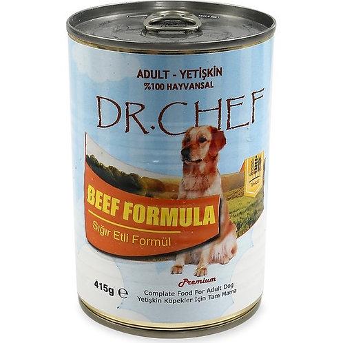 """Dr. Chef Yetişkin Köpekler için """"SIĞIR ETLİ"""" Konserve Mama !"""