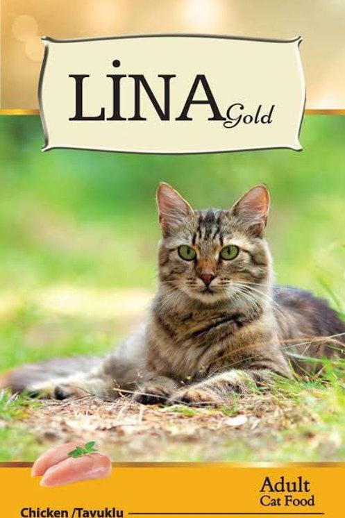"""Lina Gold Yetişkin Kediler için Leziz """"TAVUKLU"""" 15 KG Mama!"""